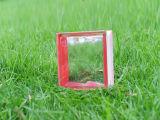De mooie Rode zij-Gekleurde Bewolkte Baksteen van het Glas (JINBO)