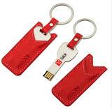 Grelle Karten-Feder Drivethumb Laufwerk USB-Blitz-Laufwerk-Speicher-Stock Soem-Firmenzeichen PU-ledernes Schlüssel USB-Stock Pendrives USB-grelle Platte USB-codierte Karte USB-2.0