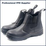 Отсутствие обуви безопасности неподдельной кожи шнурка водоустойчивой