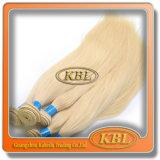 Прямые бразильские волосы Remy с белокурым цветом