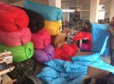 15 sacos preguiçosos do sofá do ar do poliéster das cores com fechamento de segurança
