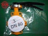 Ручная выровнянная PFA клапан-бабочка ISO 5521