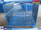 Apilable de alta calidad de la jaula de malla de alambre de acero / Almacenamiento la jaula (FLM-K-002).