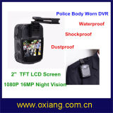 Водоустойчивым видеокамера полиций несенная телом с 120 градусами широкоформатными