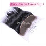Gerades indisches Jungfrau-Haar-Oberseite-Spitze-Großhandelsstirnbein