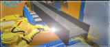 Do Almighty tipo 360 tubulação do plasma do CNC, maquinaria automaticamente de aço quadrada da estaca de Tube&Profile