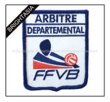 Backing Embroidery School Patches (BYH-10946)에 Merrow Border Iron