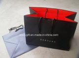 Sacos de papel vermelhos pretos personalizados logotipo