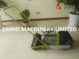 Máquina de semear vegetal manual do impulso da mão de 3 fileiras para a venda