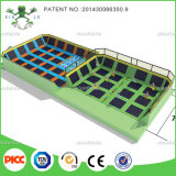 China Xiaofeixia Professional Manufacturer Trampoline with Foam Pit and Dodge Ball, Gymnastic Trampoline Cloth for Sale