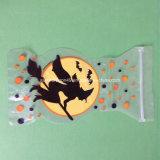 Spezieller geformter PlastikHolloween gedruckter Beutel mit Reißverschluss