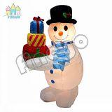 Aerostato poco costoso gonfiabile del fumetto dell'uomo della neve del giocattolo della decorazione del regalo di natale