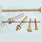 Bout DIN603 DIN933 van het Vervoer van de Bout van het Brons van de Schroef van de Bout van de Nagel van de Bout van het Anker van de Bout van de Hexuitdraai van de bout de Vastgestelde