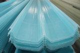 Feuille de toiture de trapèze de plastique renforcé par fibre de verre, panneau de fibres de verre