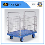 Logística Trolley Cart Barrow for Warehouse, Plastics Containers