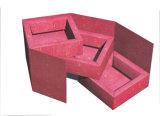 пакет коробки подарка скачками формы рождества красный бумажный/подарка праздника