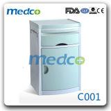 Gaveta da mesa de cabeceira mobiliário médico hospitalar de armário de leito de metal e ABS