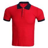 personalizado Colar Turn-Down de alta qualidade Piqué Polo Shirt para homens