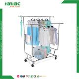Складной шкаф одежды с кромом Extendable штангами