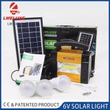 6V Novo Sistema de iluminação solar de alumínio com 3 lâmpadas de LED