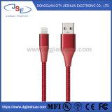 Apple 장치를 위한 최대 대중적인 Mfi에 의하여 증명되는 나일론 땋는 USB 번개 케이블