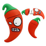 Cartoon Red Zombie Chili Bonitinha Mini Pen Drive USB
