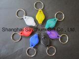 Светодиод Diamond форма мини цепочки ключей УФ лампа фиолетового фонарик цепочки ключей