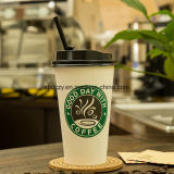 Taza de papel impresa aduana disponible de Kraft del café caliente de un sólo recinto