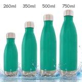 260 350 500 750ml 304 passten Firmenzeichen-galvanisierenmarmornde hölzerner Kolabaum-Edelstahl-Wasser-Flaschen-Schwellen-Flaschen-Vakuumflaschen-Sport-Arbeitsweg-im Freienflasche an