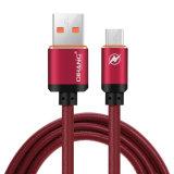 Кожаный 2.4A металлическое быстро Micro USB-кабель и кабель для синхронизации данных Andriod для мобильных ПК