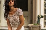 Kleding van het Huwelijk van het Strand van Amelie de Rotsachtige 2018 Bruids Chiffon Geparelde