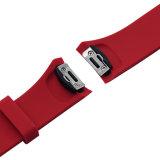 Bracelete da cinta da faixa de relógio da borracha de silicone para o esporte da engrenagem S2 de Samsung