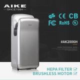 ABS het Plastic Brushless Model van de Droger van de Hand van het Toilet van de Motor Straal (AK2006H)