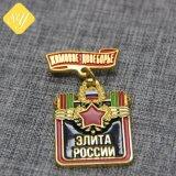 Loja de liga de zinco com pin de lapela militar personalizada de logotipo