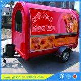 Le camion de nourriture d'OEM le meilleur marché de nourriture de restauration de Crepe blanc de remorque de l'usine de Changhaï