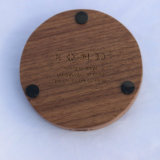 Carregador rápido sem fio padrão de madeira de Qi da noz preta de América (X8-0012)