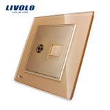 Livolo 2 Gruppe-Wand Fernsehapparat und Telefon-Kontaktbuchse-Anschluss Vl-W292vt-11/12/13