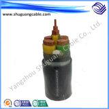 Гофрированное Al и ПВХ изоляцией XLPE оболочке диаметром в продольном направлении водостойкий кабель питания