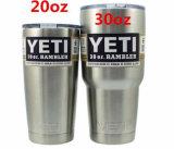 El precio 12 del Yeti de China vaso del Rambler del Yeti 20 30 18 36 64oz ahueca el acero inoxidable de las botellas con los matraces Hip aislados