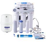 Venta caliente R. O Sistema purificador de agua con el bastidor y el manómetro