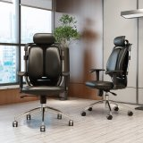 人間工学的デザイン回転式PUの革オフィスの椅子