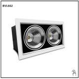 30W*2 doble cabeza Downlight LED COB