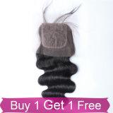 Hochwertige Jungfrau-Haar-Silk Schliessen-Spitze-frontales Spitze-Schliessen