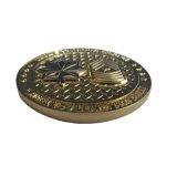 precio de fábrica de cobre de metal estampado muere desafío personalizados con Logo de monedas de colección y recuerdos