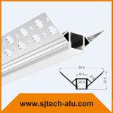 L'intonaco nel profilo del LED per il muro a secco fuori dell'angolo ha montato con la larghezza interna di 10.5mm