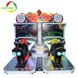 InnenFreizeitpark-Gerätkiddie-Fahrerwachsene verrückte Geschwindigkeit Moto, das Unterhaltungs-Simulator-Säulengang-Spiel-Maschine läuft