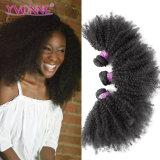 Cheveu bouclé crépu de Vierge de Yvonne de lacet d'Afro brésilien en gros de fermeture