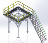 Piattaforma d'acciaio del mezzanine di memoria del magazzino del pavimento della struttura d'acciaio