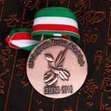 最も新しい記念品3Dはカスタマイズされたリボンが付いているメダルに金属をかぶせる