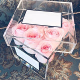 アクリルのWindowsの贅沢なギフトのカスタマイズされたロゴの包装の花ボックス